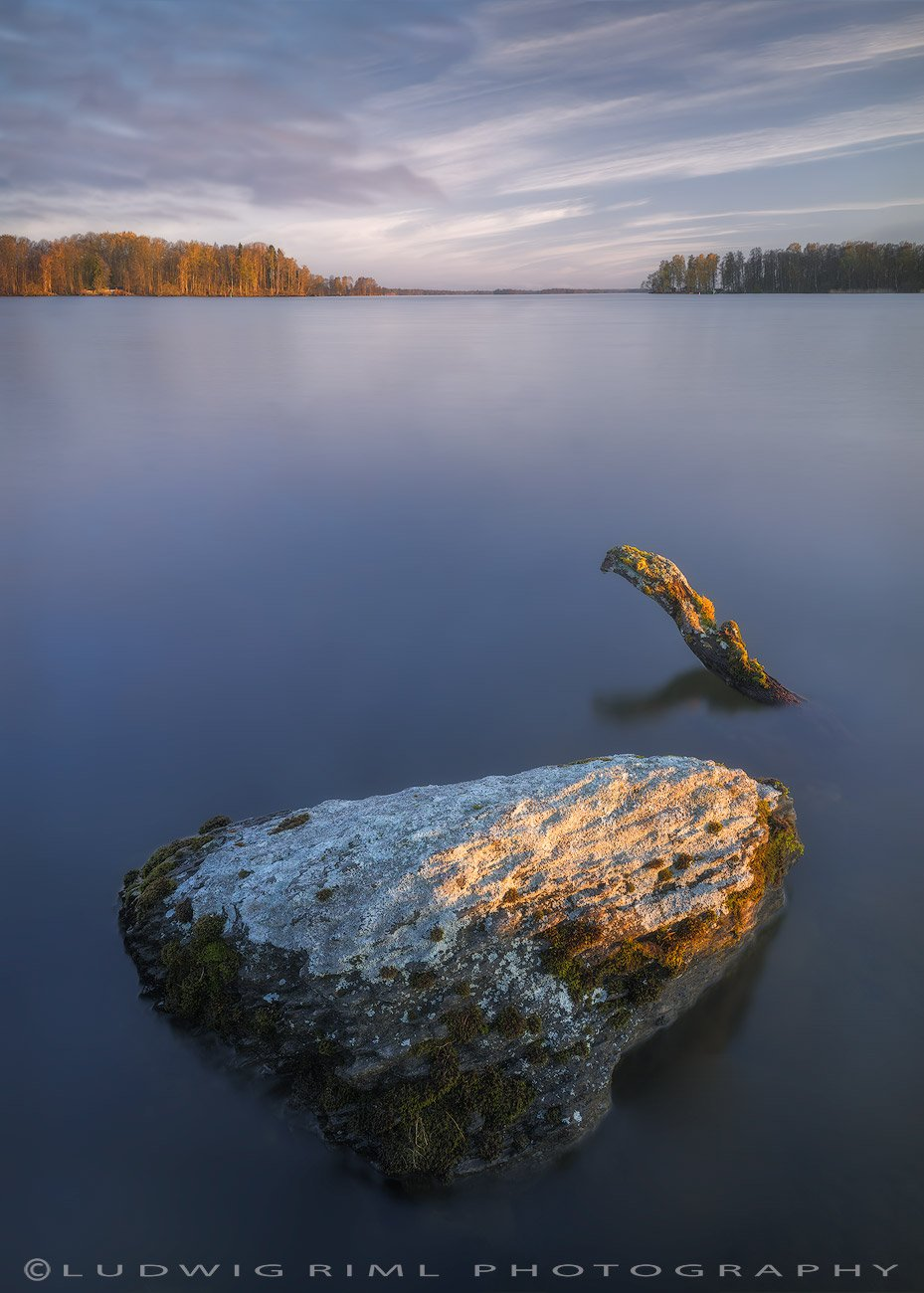 blue, branch, clouds, harmony, hjalmaren, lake, lichenes, lichens, morning, moss, nature, nature sight, outdoors, peace, rock, scandinavia, sunrise, sweden, tranquility, trees, water, Ludwig Riml