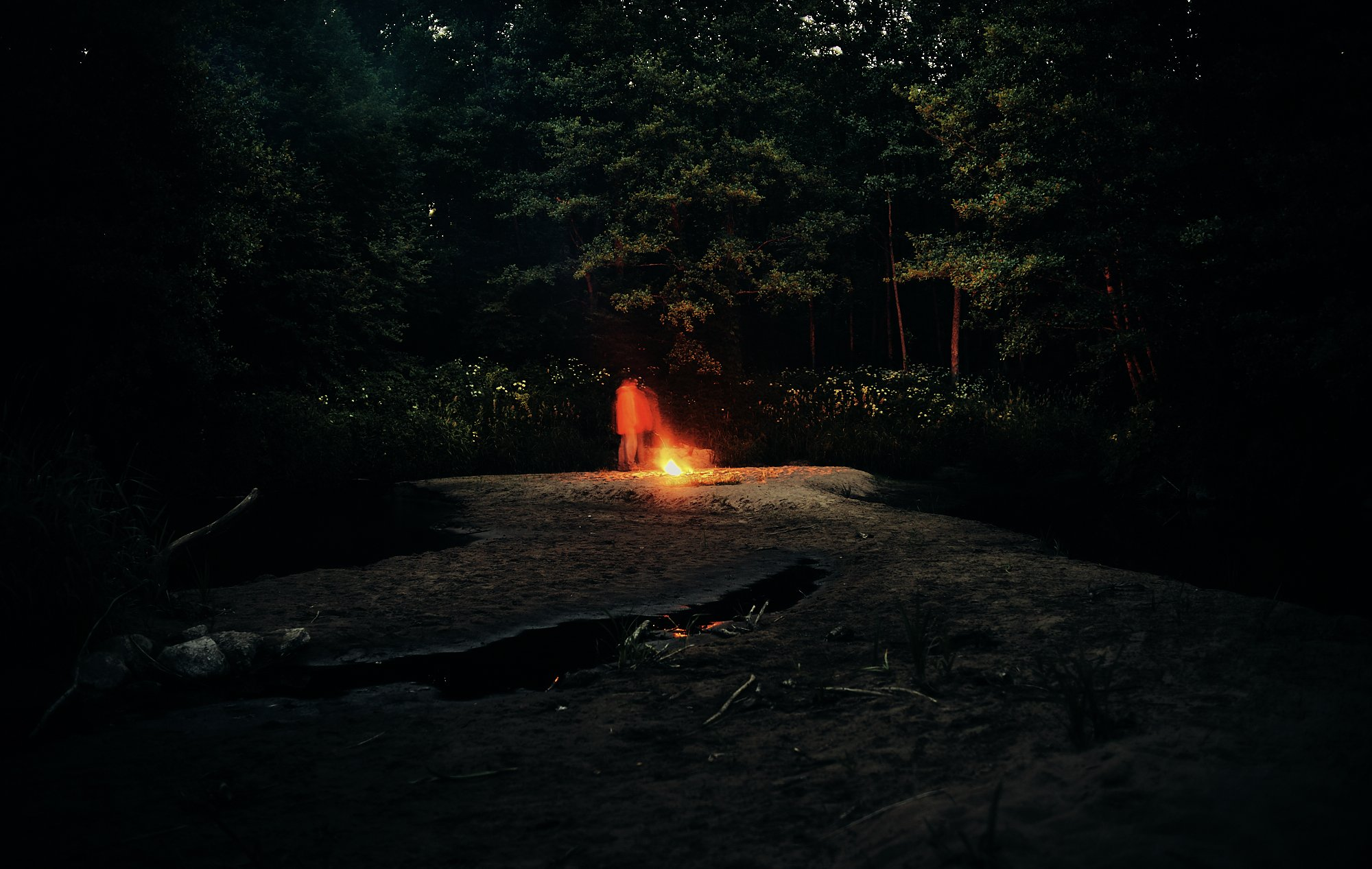 night mood atmosphere acid trip ночь костёр атмосфера, Александр Фанковин