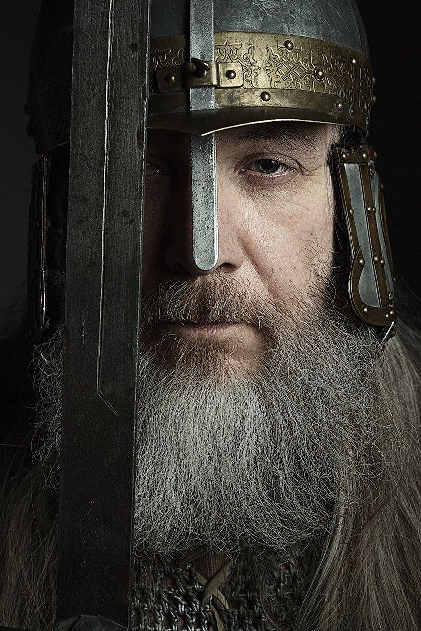 богатырь, русский, исторический, костюм, актер, герой, сражение, битва, меч, половина, лицо, Комарова Дарья