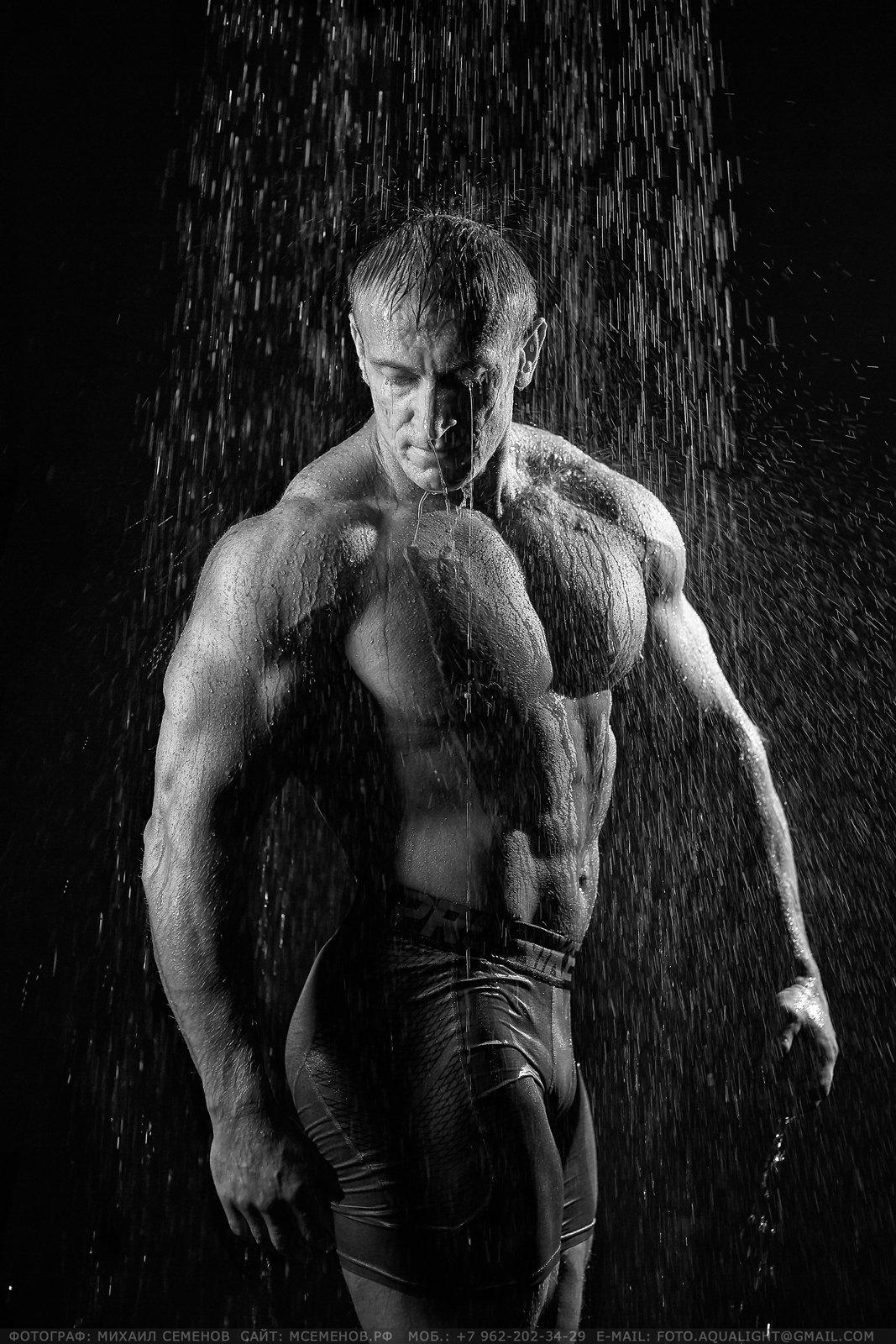 МихаилСеменов, фитнес, спорт, чемпион, фотосессия, man, поддождем, лофтярославль, yarloftfitness, aquaphotoshot, аквафотосессия, Михаил Семенов