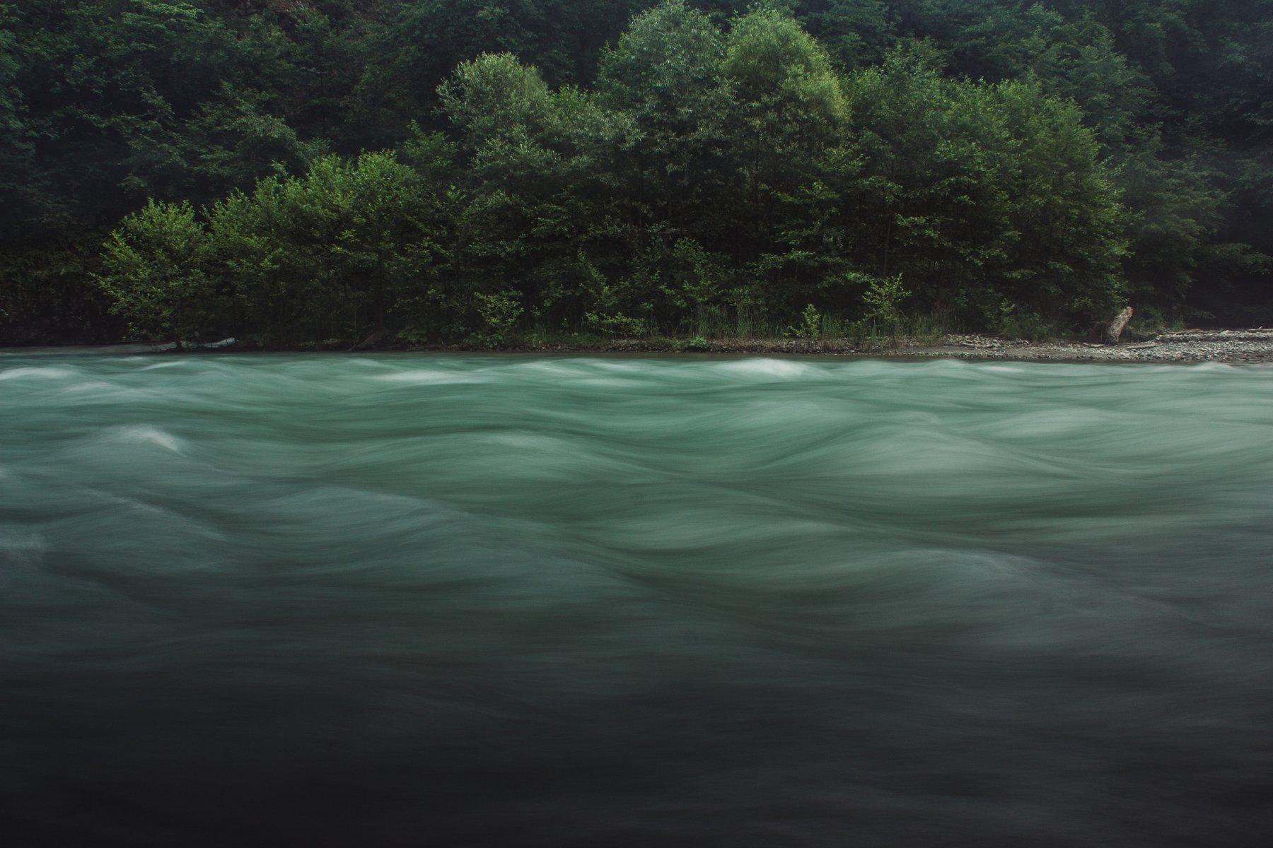 Пейзаж, природа, река, вода, лес, Цветков Сергей