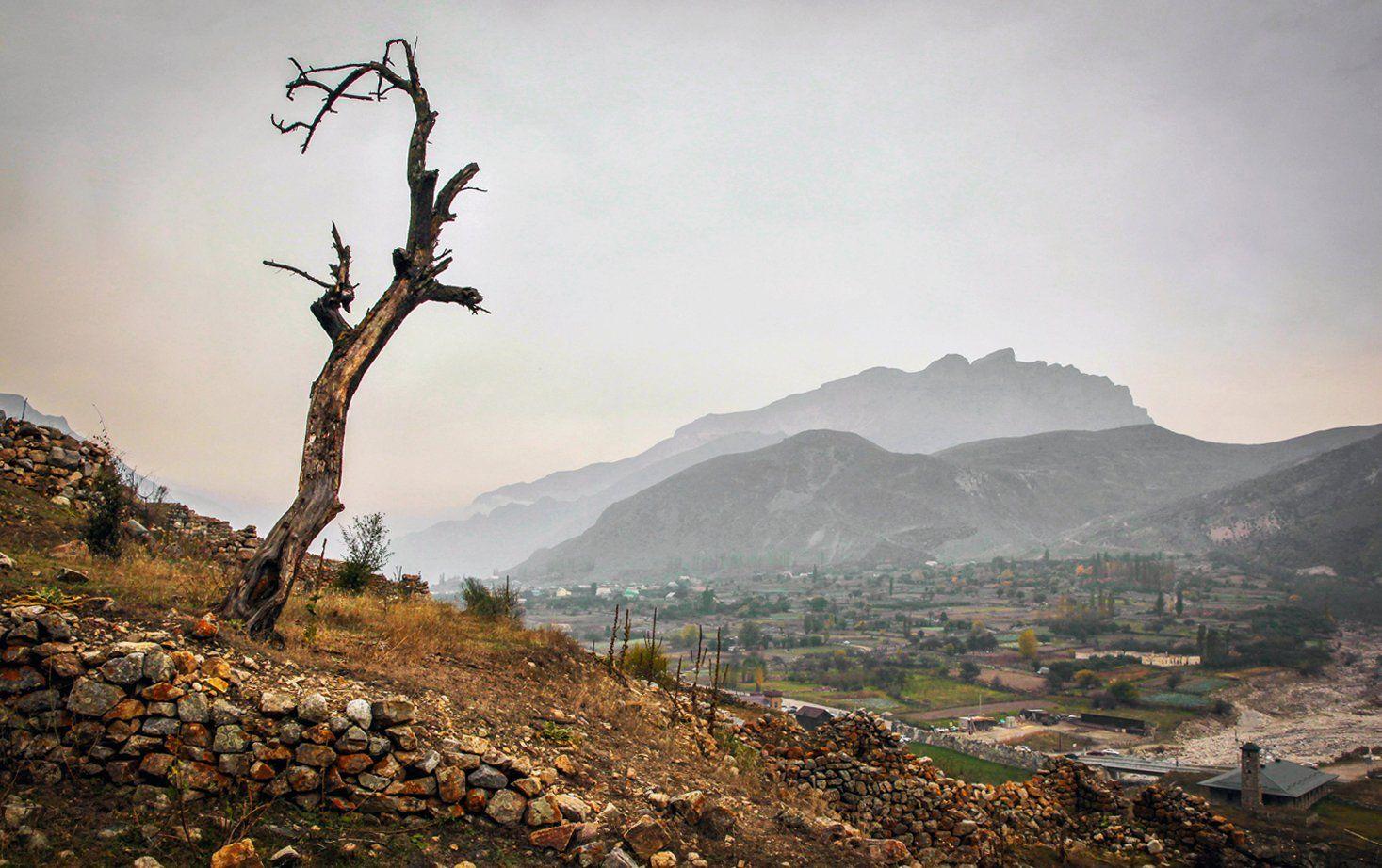 горы,осень,природа,село,туман, Марат Магов