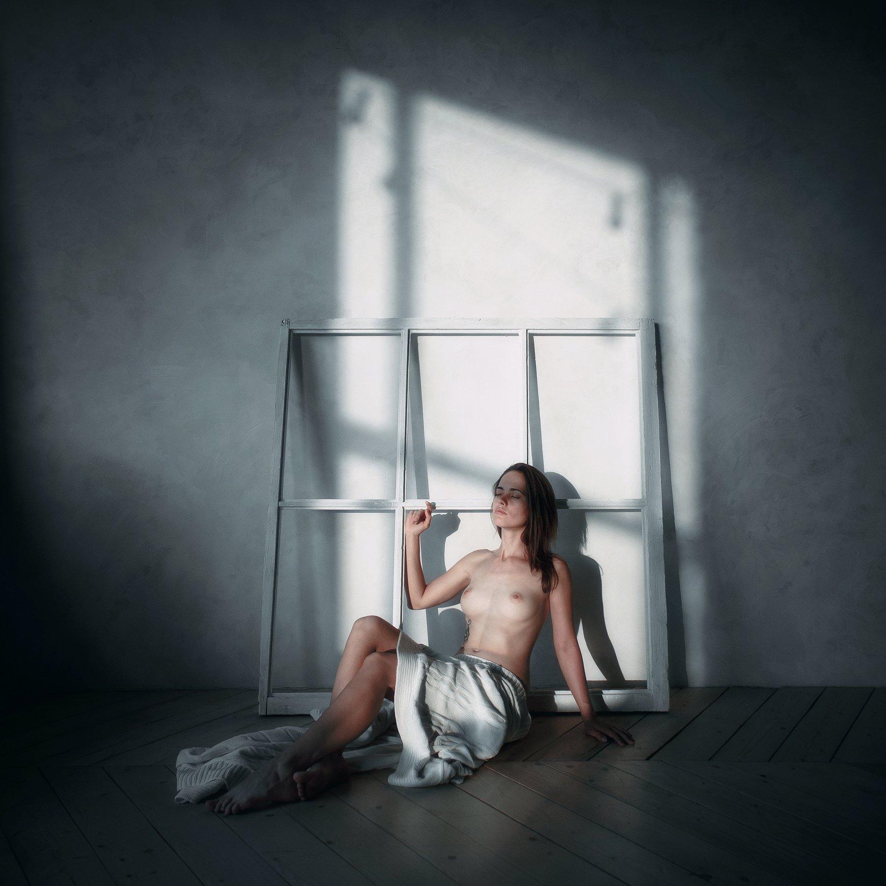 girl, model, nude, dream, silence, window, night, light, room, darkness, peace, russia, Васильев Андрей