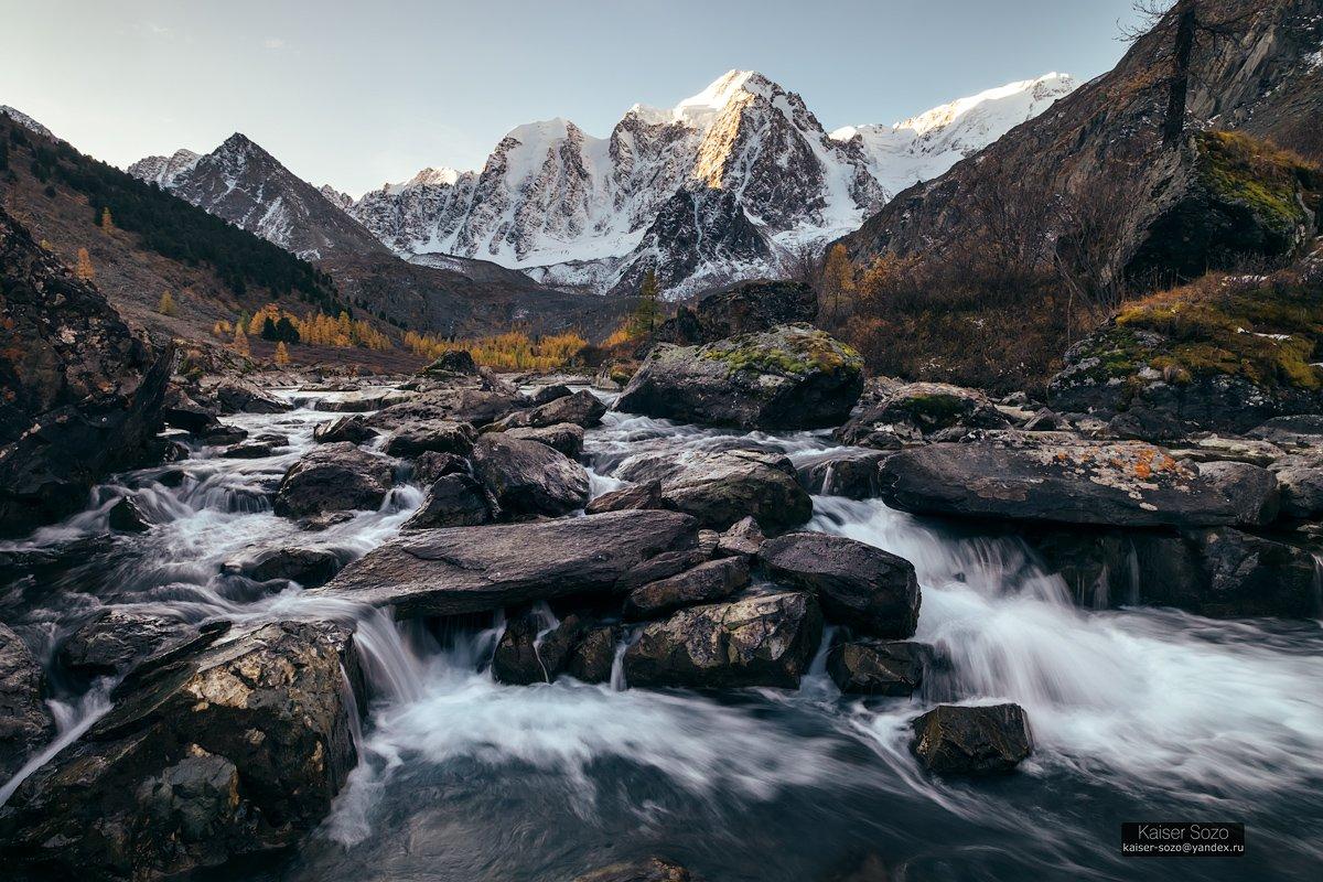 россия, алтай, горный алтай, шавлинские озера, шавла, горы, водопад, ледник, Kaiser Sozo