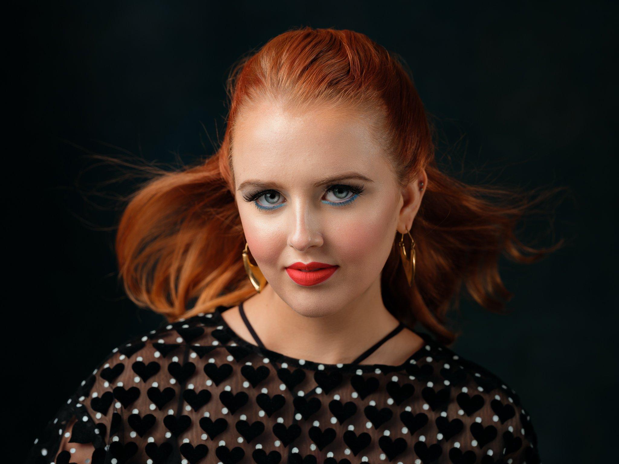 beauty, portrait, girl, young, female, redhead, Saulius Ke