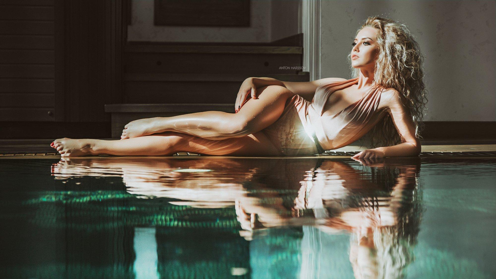 girl, portrait , awesome, people, water, cinematic, woman, luxury, water, Антон Харисов