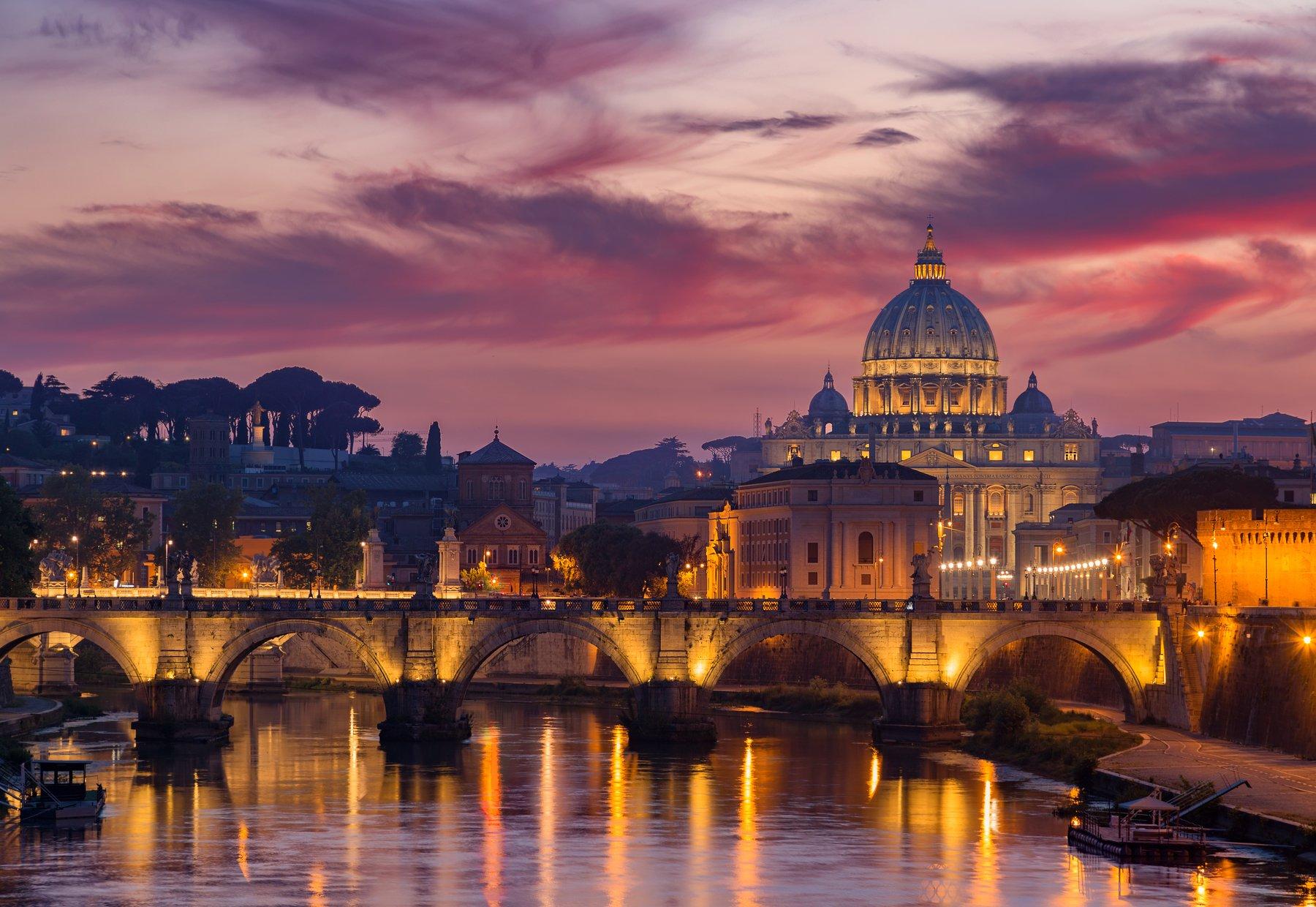 rome, italy, vatican, city, sunset, , Иван Курмышов