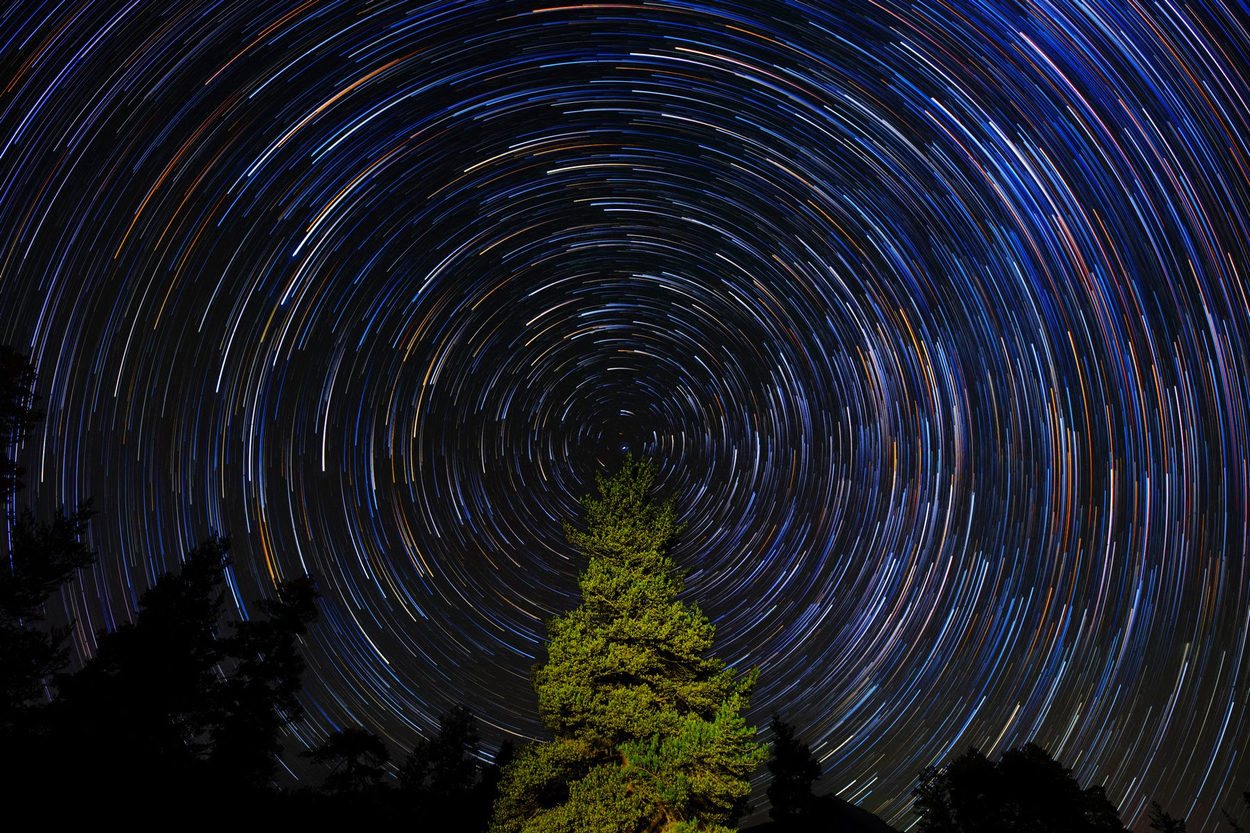 night, astrophotography, star trails, Иван Курмышов