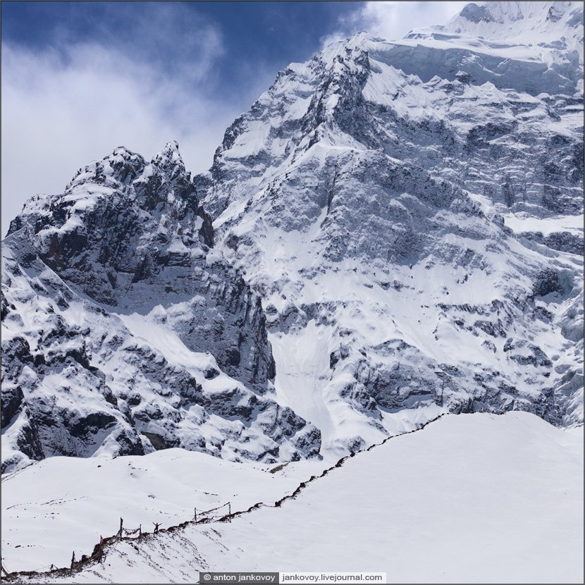 горы, непал, гималаи, снег, морена, ледник, человек, масштаб, Антон Янковой (www.photo-travel.com.ua)