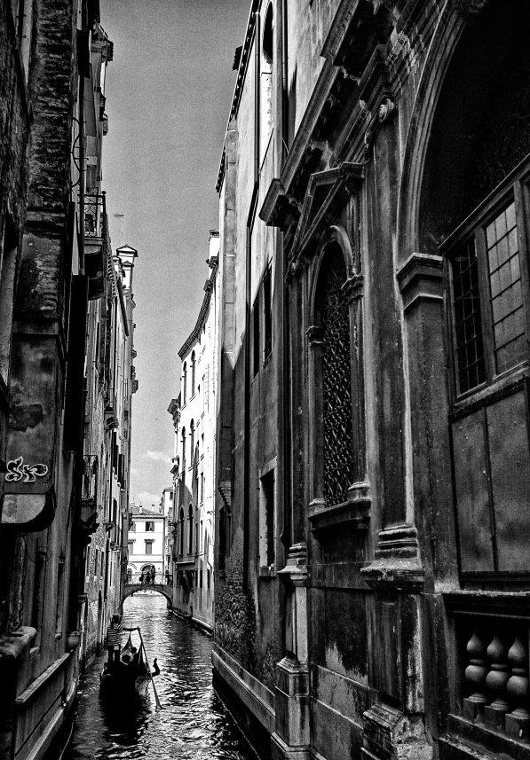 чб, канал, венеция, город, Vikst
