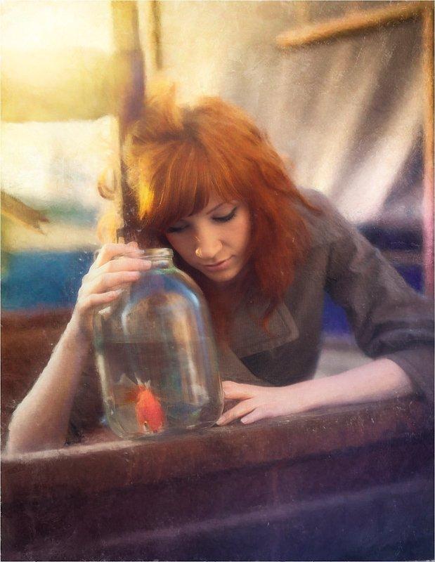 картина, картины, обработка, живопись, владимир, шипулин, рыбка, рыбки, Vladim_Shipulin
