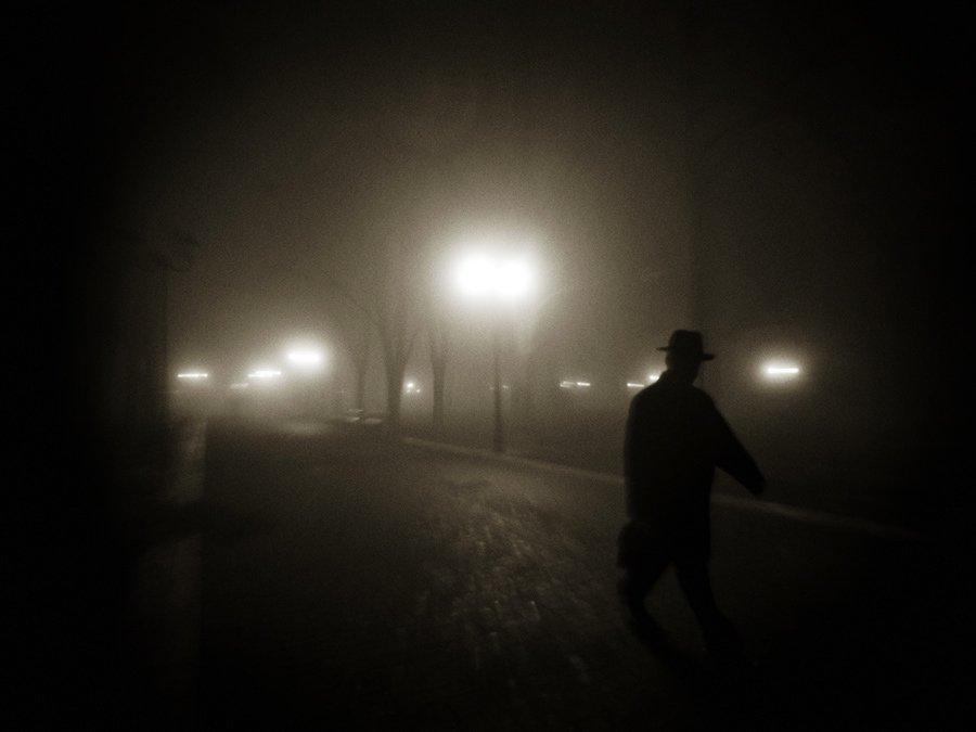 туман, мужчина, силуэт, Михаил Палинчак