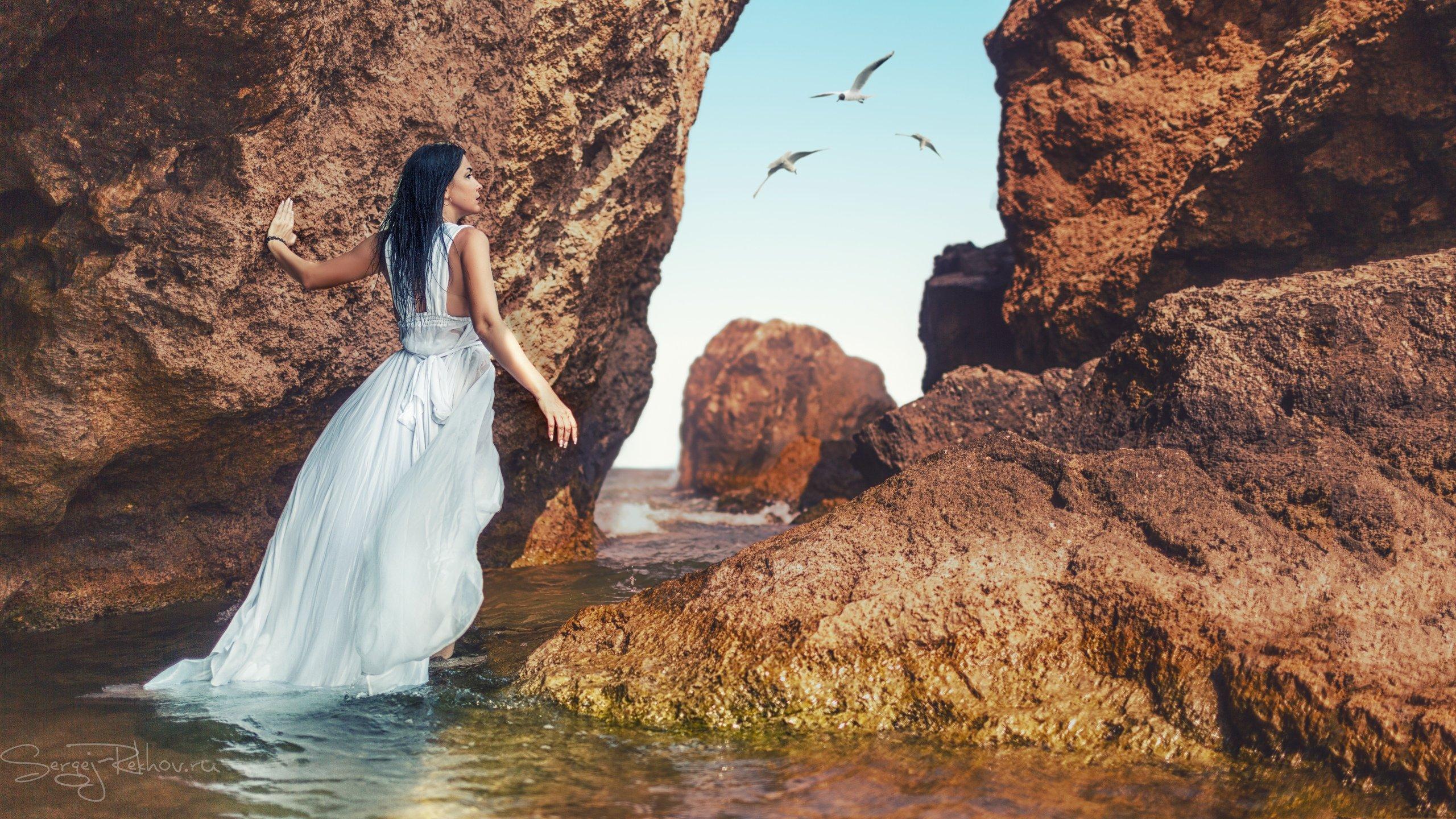крым, азовское море, скалы, море, модель, Сергей Рехов