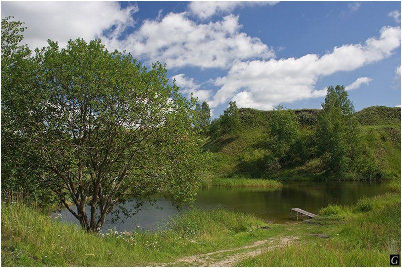 талашкино, лето, озерцо, мостки, Gorshkov Igor_Feanorus