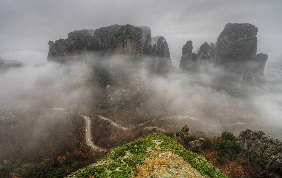 myst, fogs, rocks, Philip Peynerdjiev