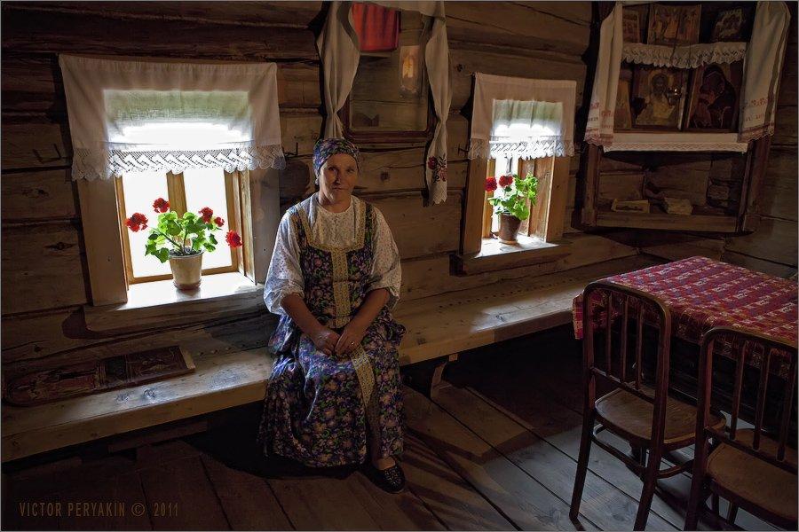 крестьянская, изба, интерьер, русь, утварь, мебель, история, Виктор Перякин