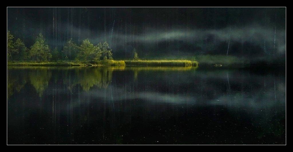 утро, дым, лес, вода, озеро, шериха, меленки, Сдобин Дмитрий