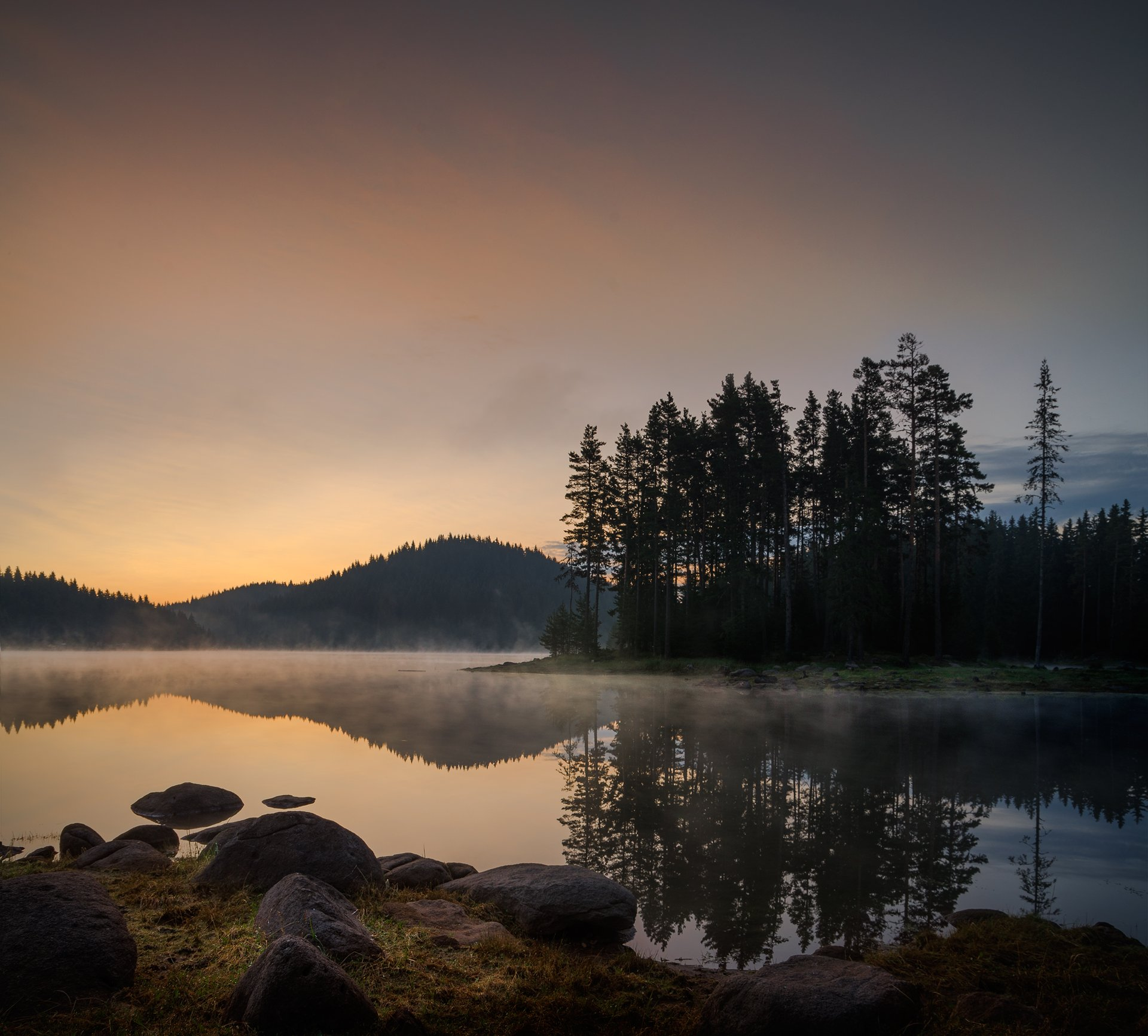 landscape, nature, sunrise, morning, утро, пейзаж, озеро, rocks, coastal, coast, beach, lake, long, exposure, scenery, reflections, Александър Александров