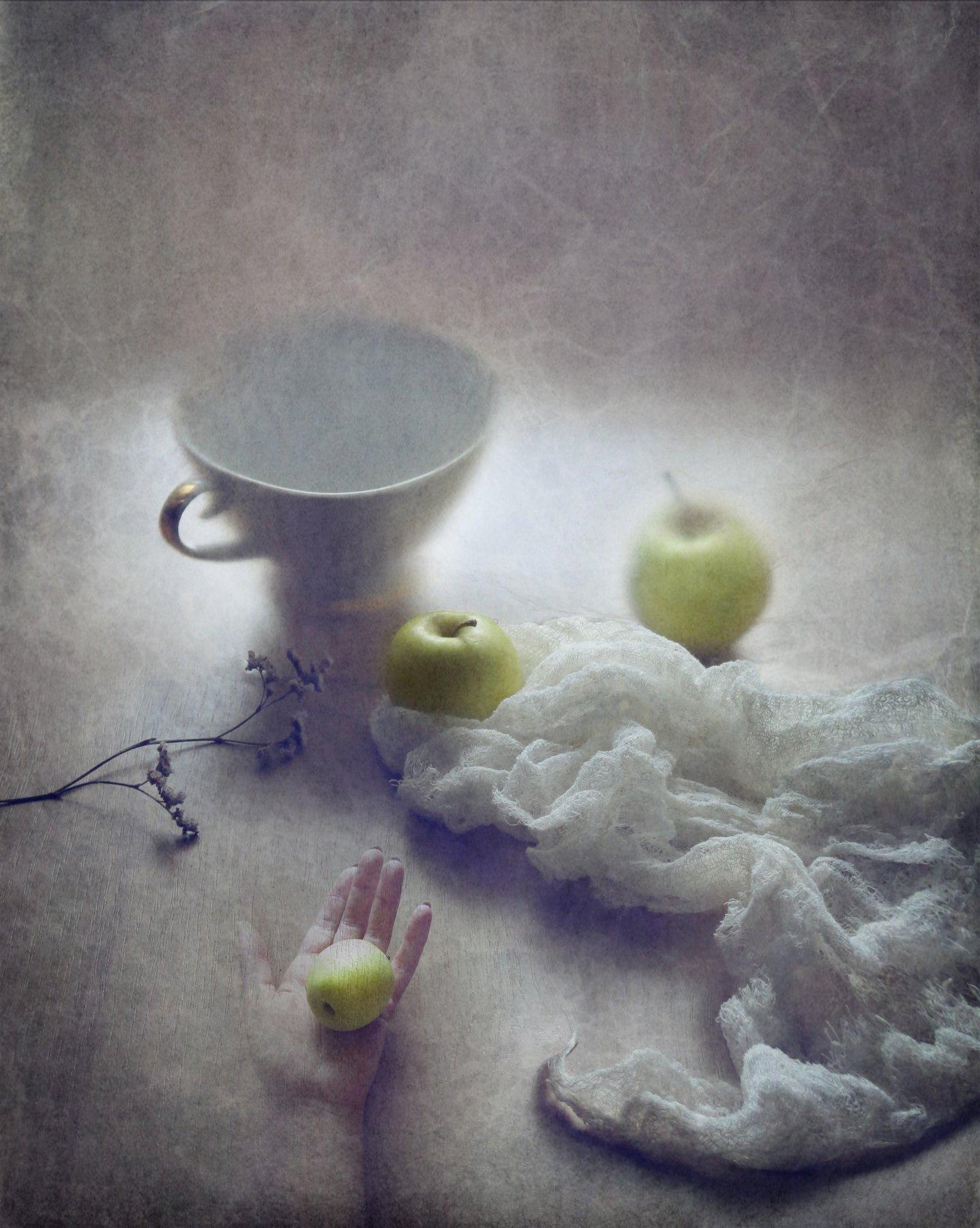 яблоки, сентябрь, осень, натюрморт, Елена Лысенко