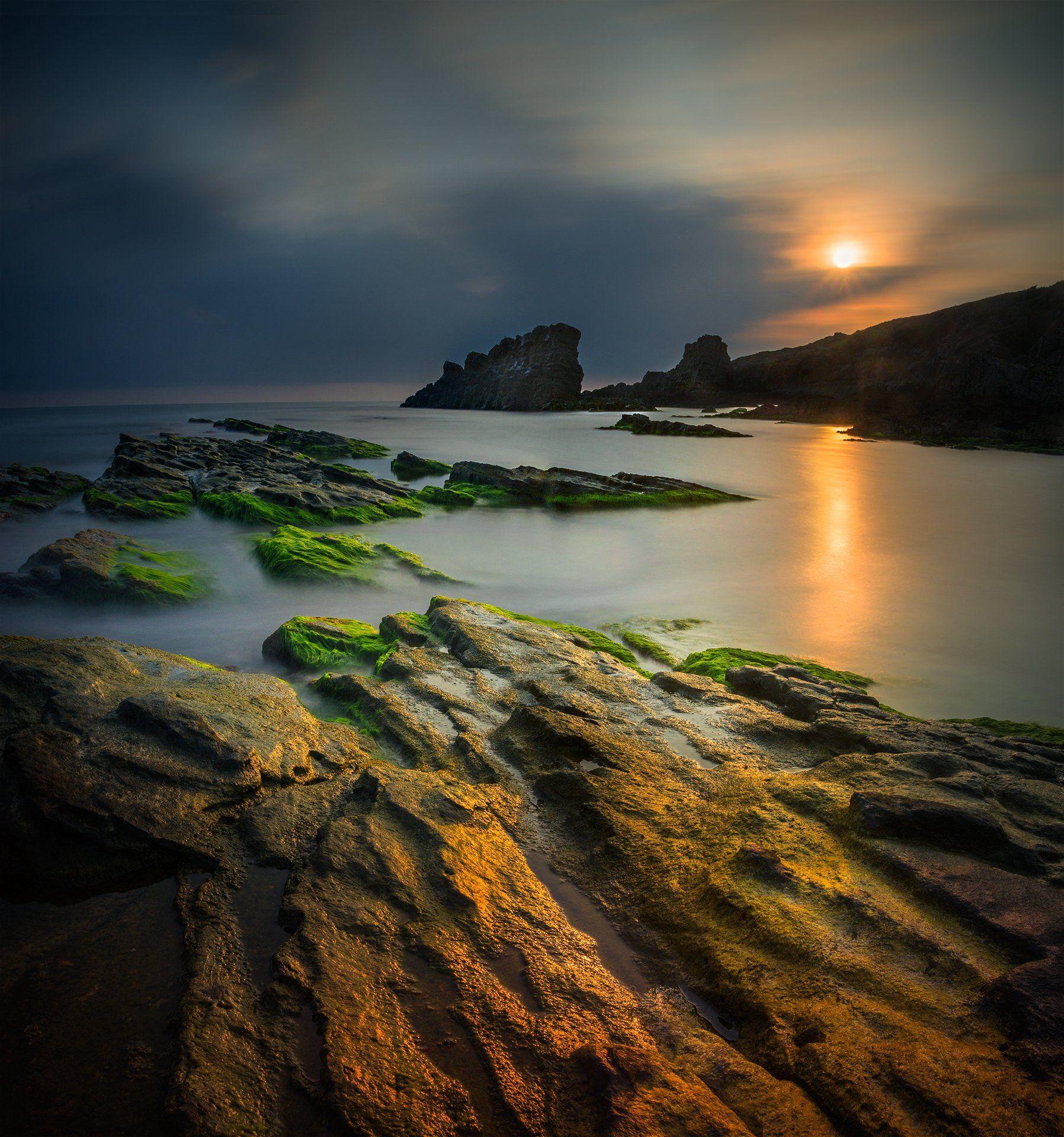 landscape, nature, seascape, sunrise, morning, rocks, coastal, coast, beach, lake, long, exposure, scenery, reflections, vibrant, Александър Александров