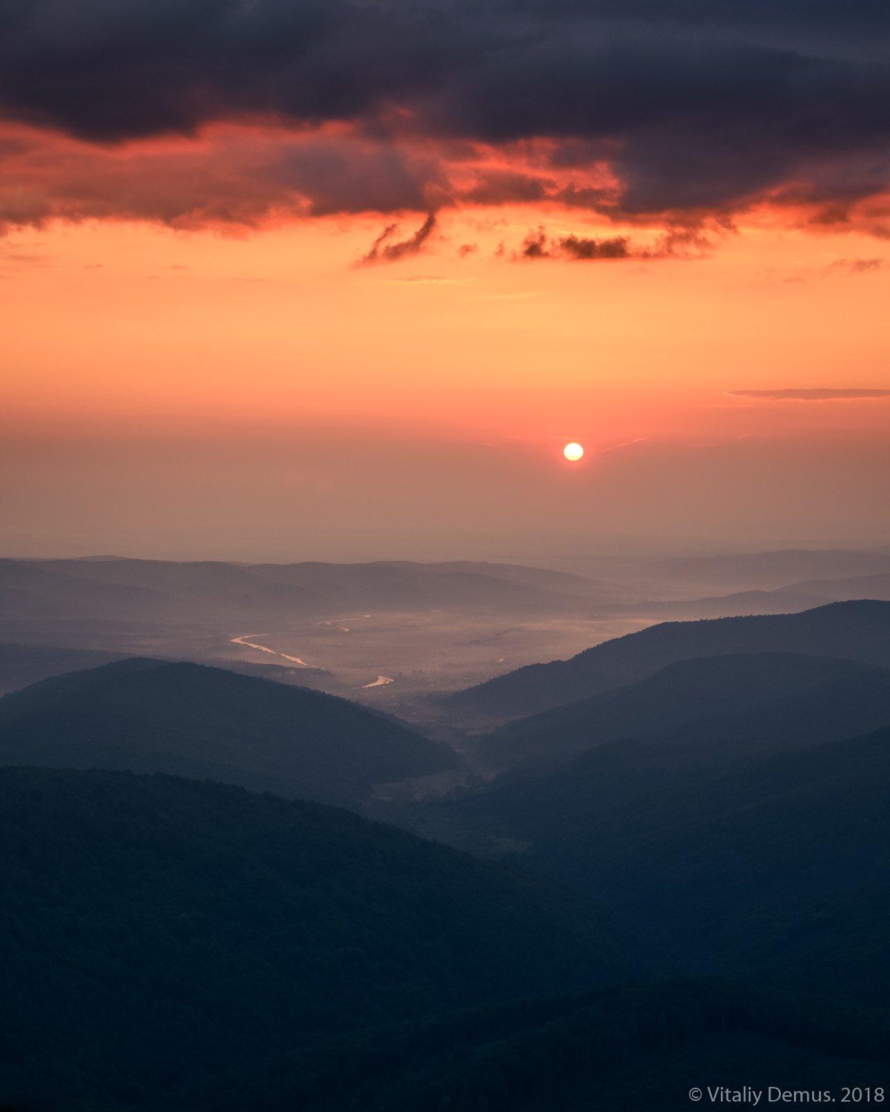 лето, карпаты, горы, рассвет, солнце, Виталий Демус