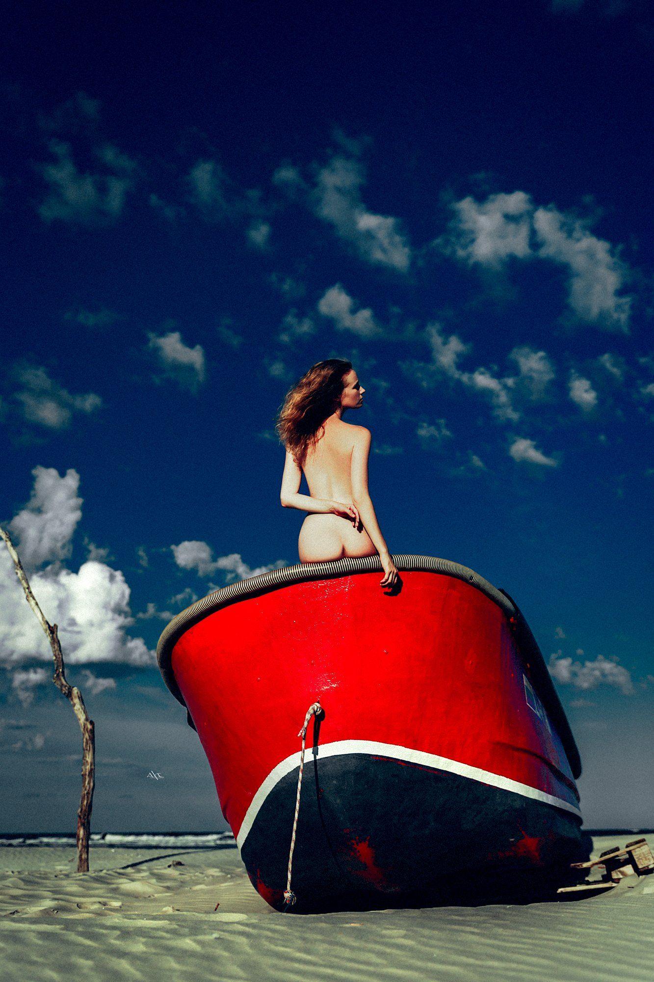 woman, nude, art, natural light, baltic sea, boat, Руслан Болгов (Axe)