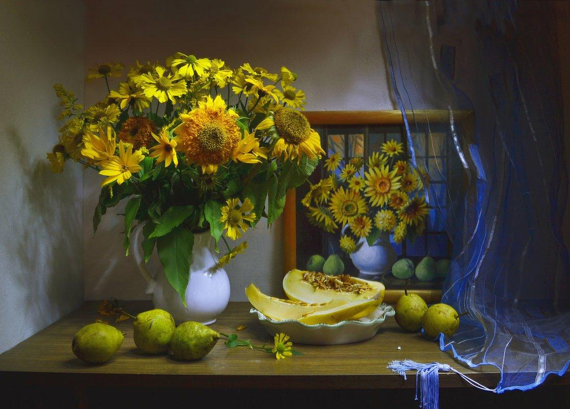 still life, натюрморт, цветы, фото натюрморт, сентябрь, осень, маслом, картина, Колова Валентина