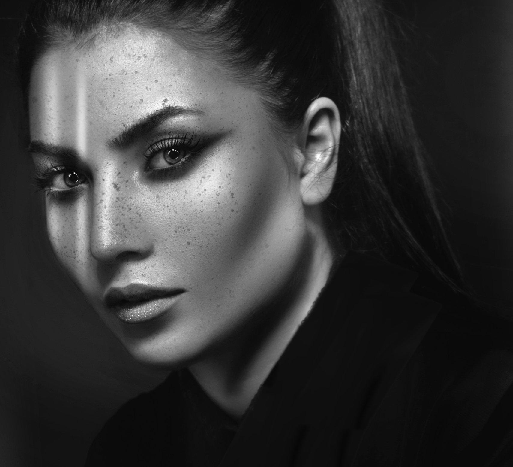 portrait  beauty  black and white, reza rasa
