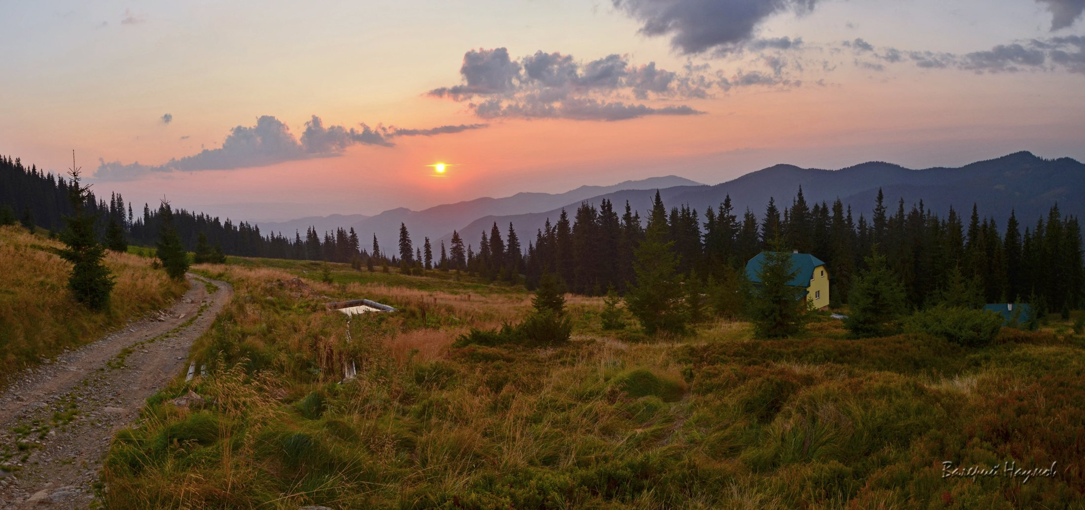карпаты, горы, мармаросы, вечер, закат, полонина струнге, Валерий Наумов