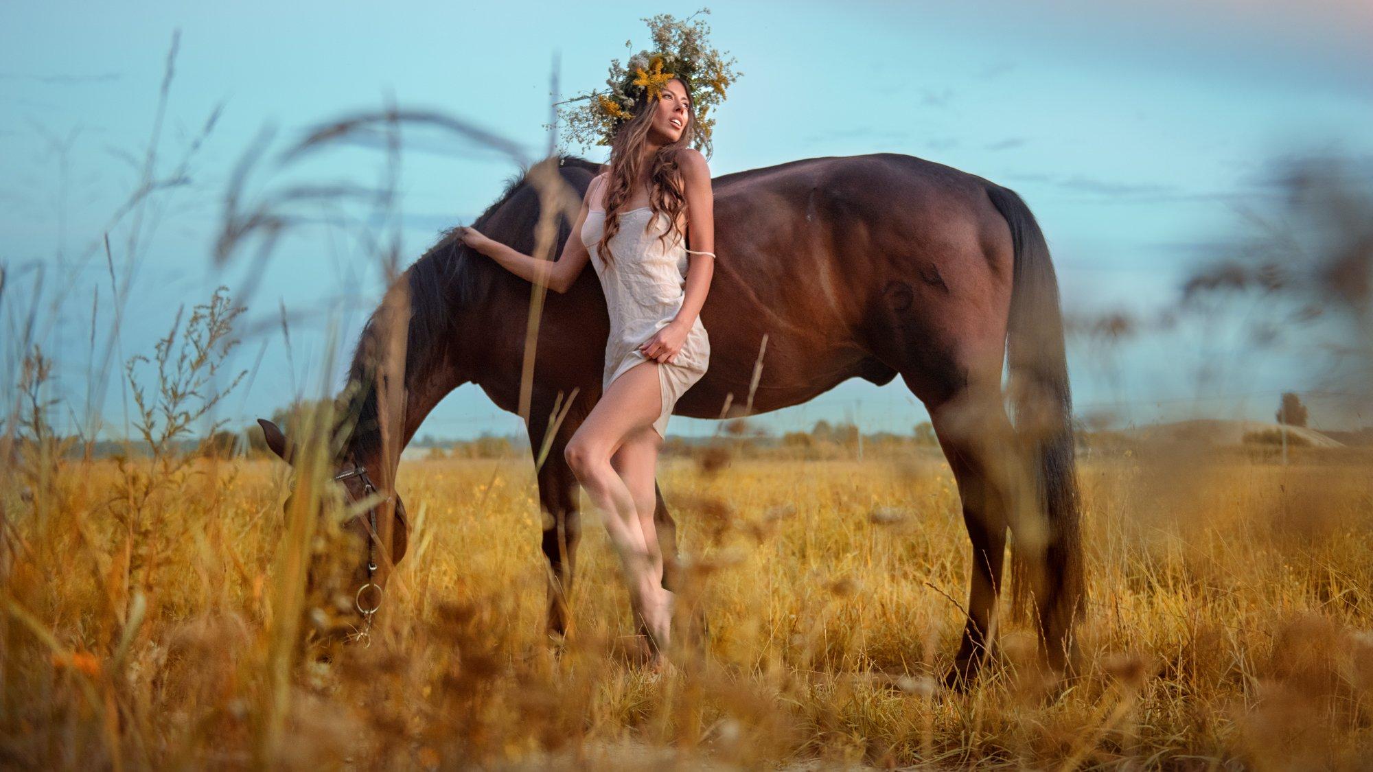 портрет девушка природа, Новожилов Сергей