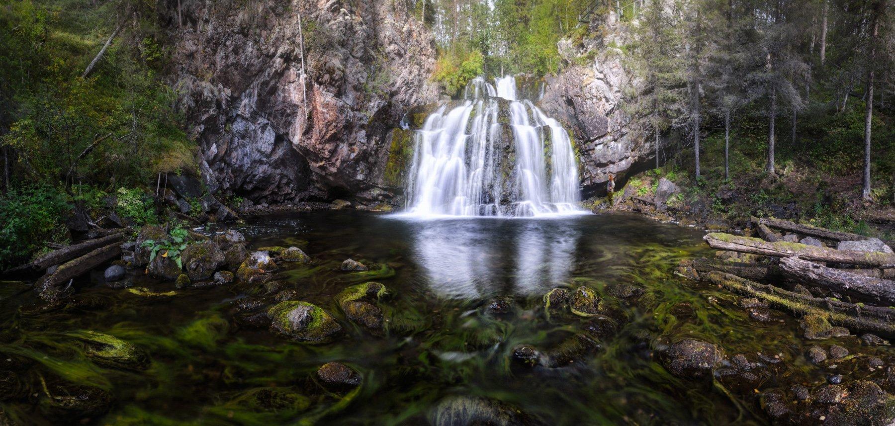 мянтюкоски, мянтюйоки, паанаярви, карелия, водопад, Сергей Кочергин
