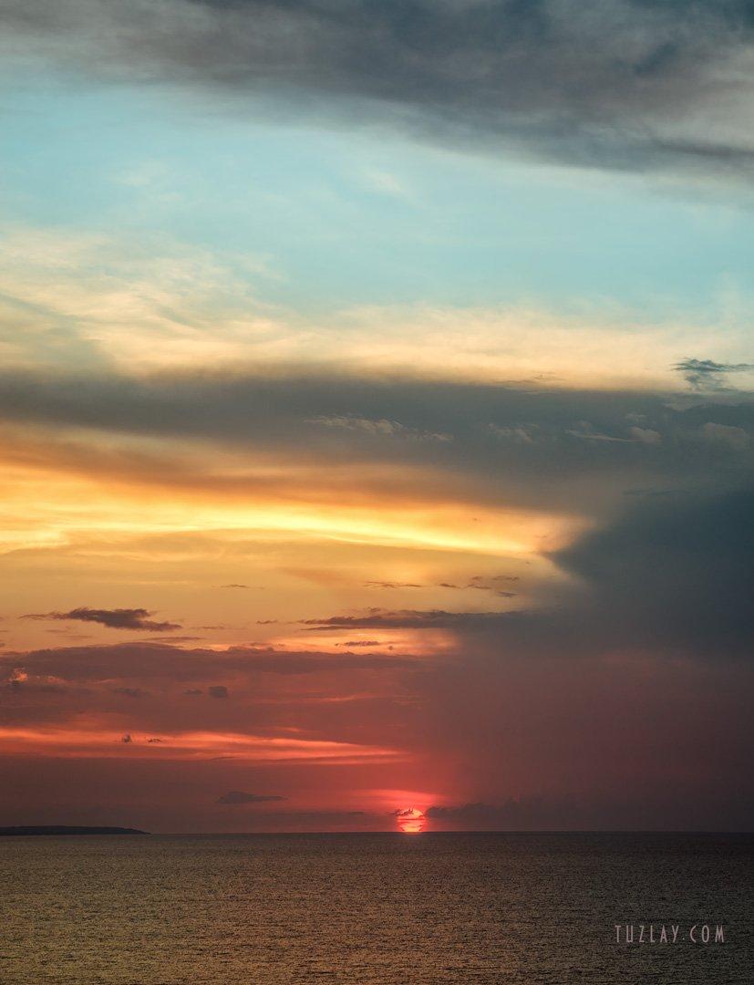 азовское море, закат, июль, вечер, азовский берег, таманский полуостров, Владимир Тузлай