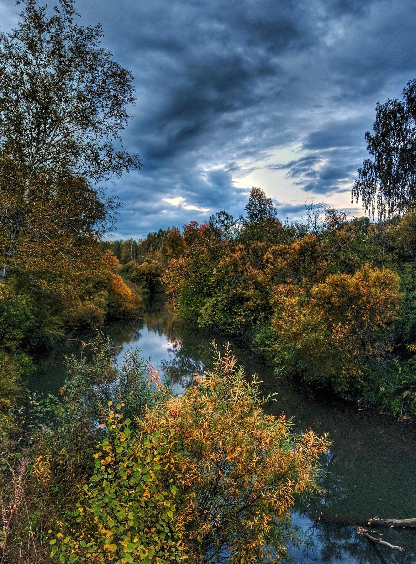 река, осень,сибирь, Цвелёв Дмитрий