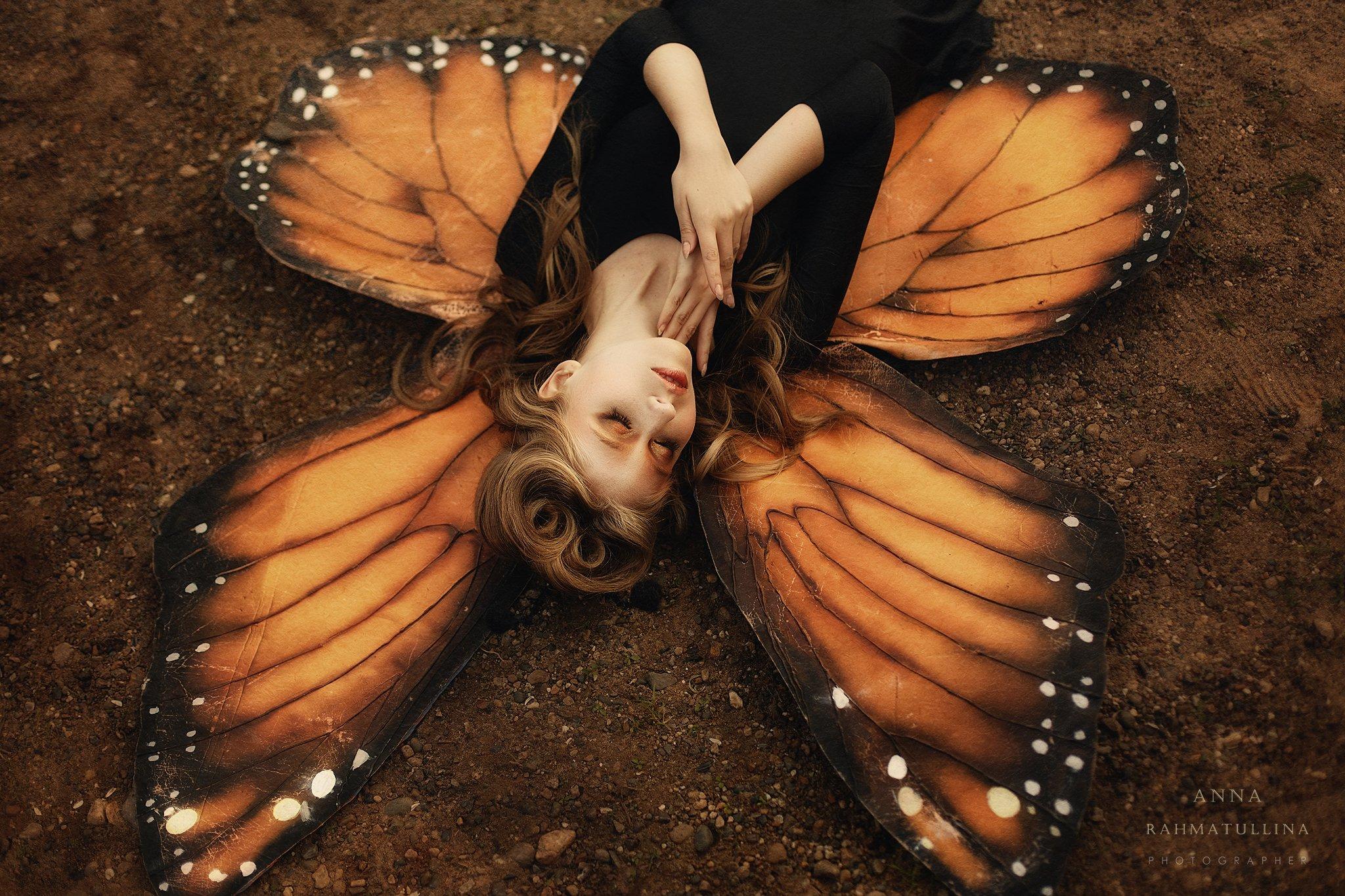 стилизованная съемка, бабочка, крылья, Рахматуллина Анна