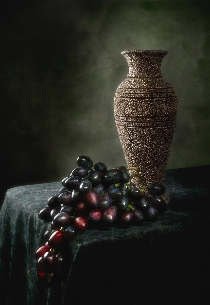 виноград, ваза, кувшин, Андрей Угренинов