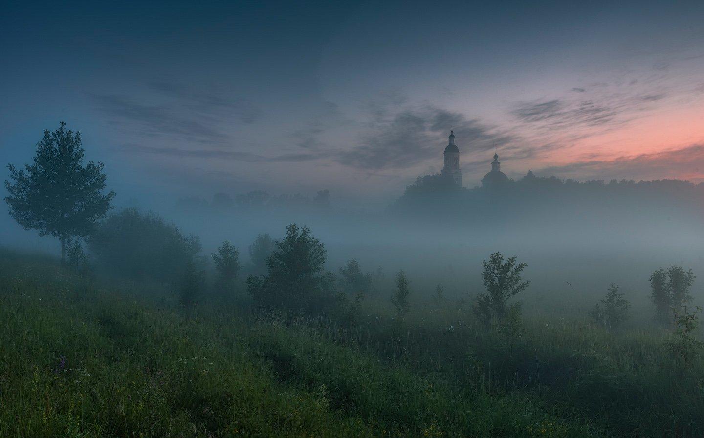 пейзаж, рассвет, туман, утро, россия, природа, филипповское, лето, россия, Виталий Левыкин