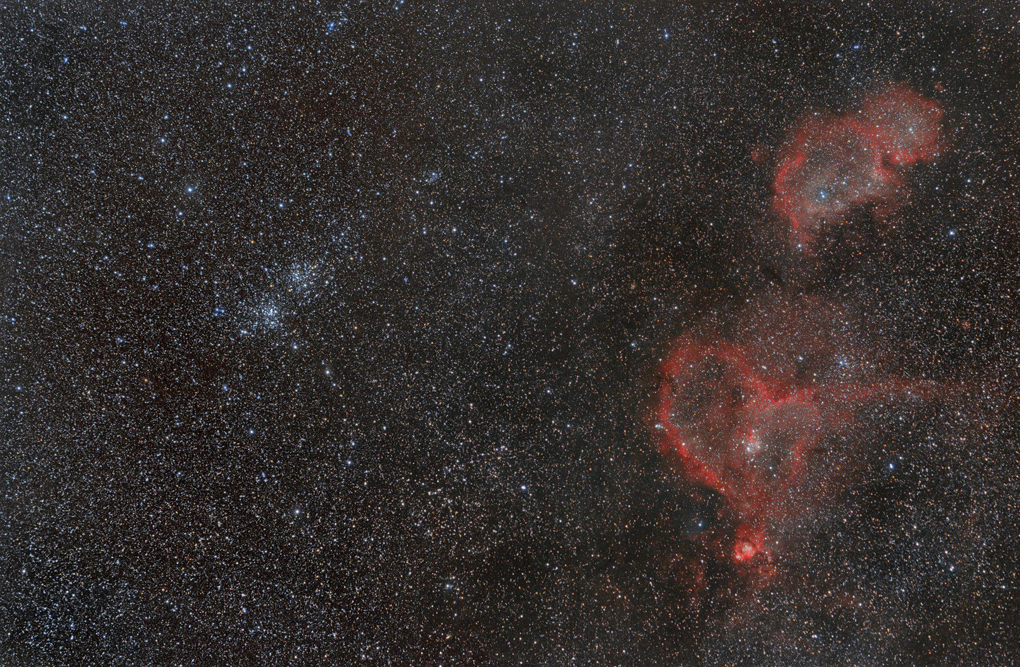 астрофотография, фотографии космоса, космос. туманности душа и сердце., Кузнецов Сергей