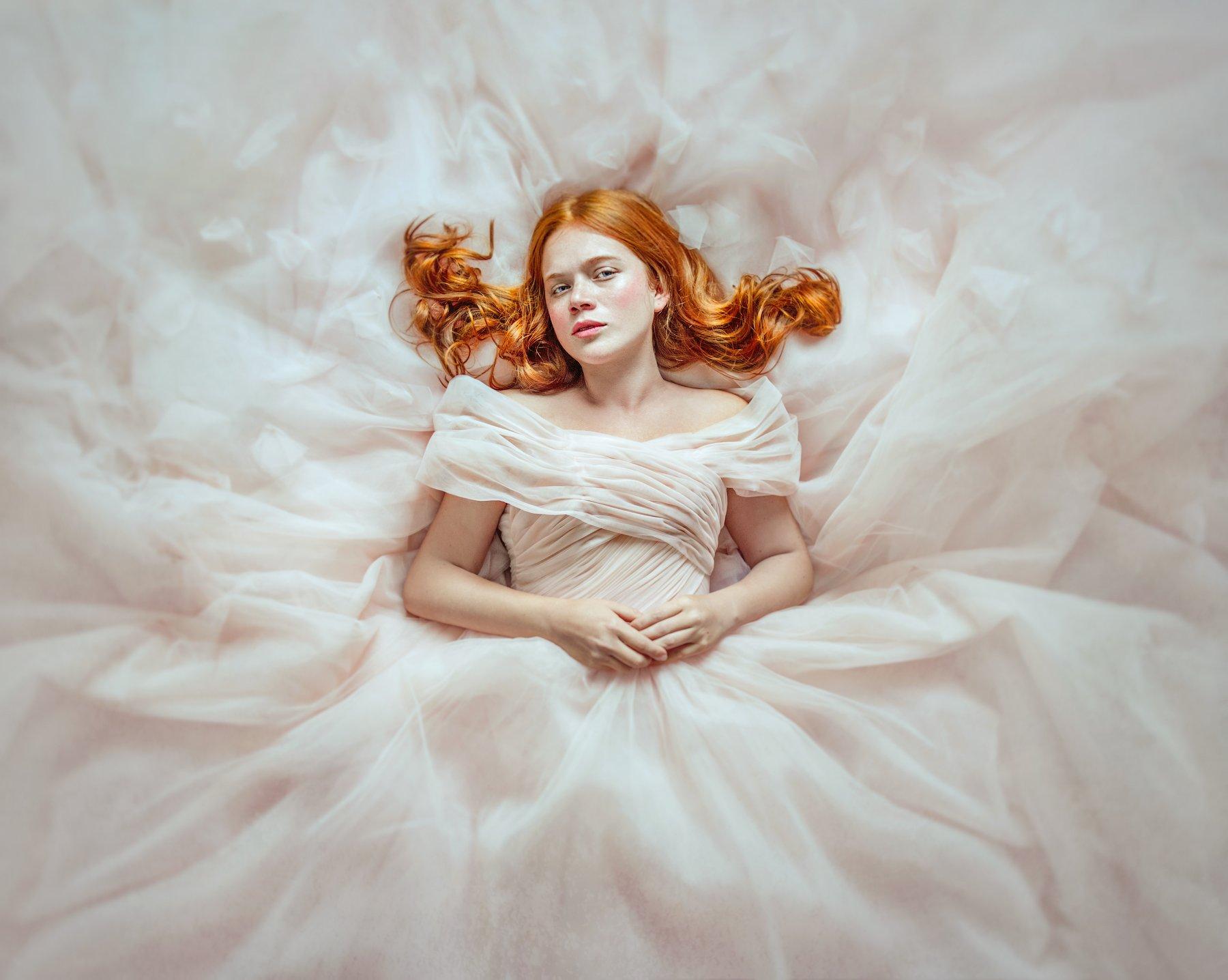 портрет, portrait, red hair, dress, платье, рыжие волосы, Amina Donskaya