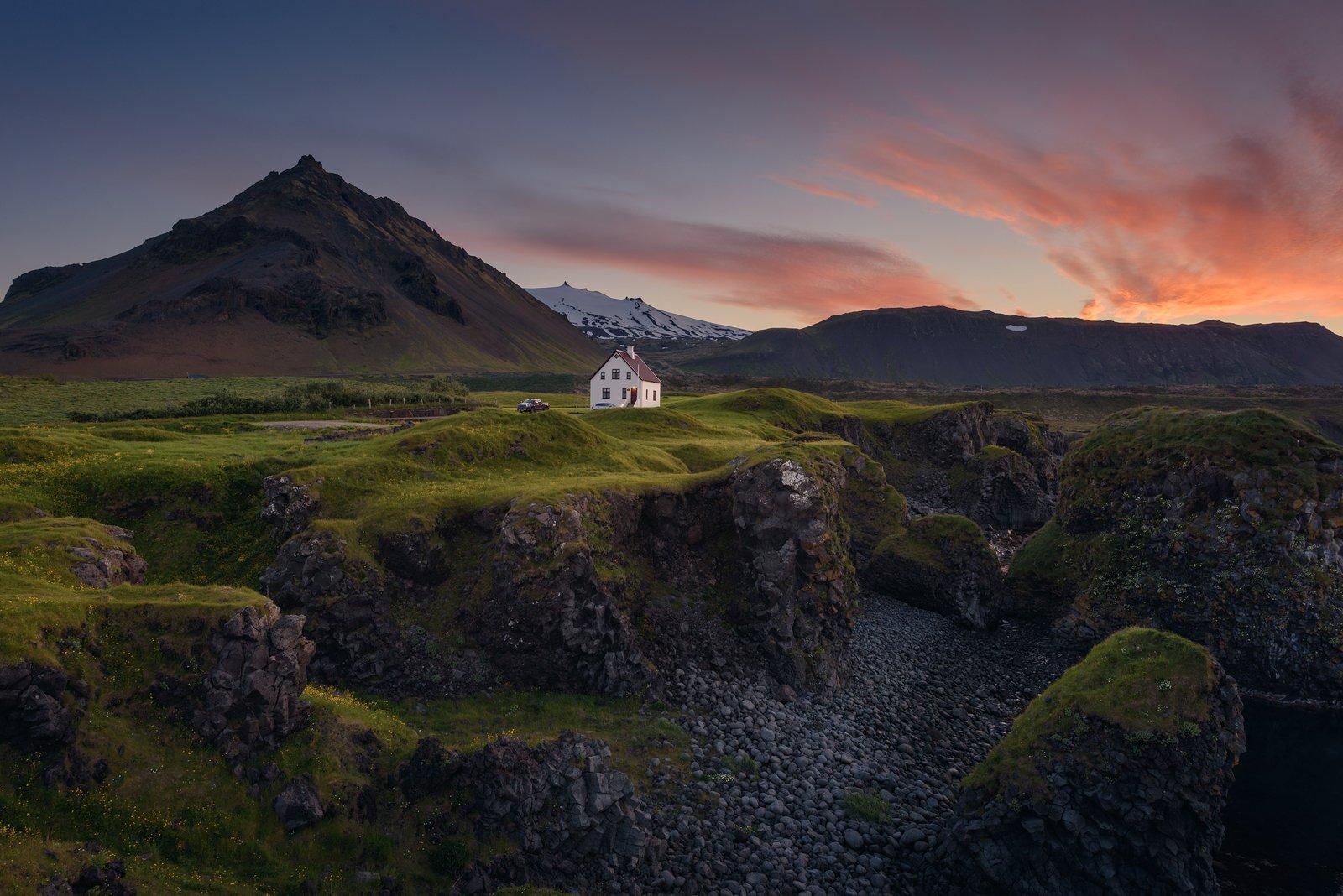arnarstapi, iceland, landscape, nature, природа, пейзаж, исландия, закат, nikon, Дмитрий Виноградов