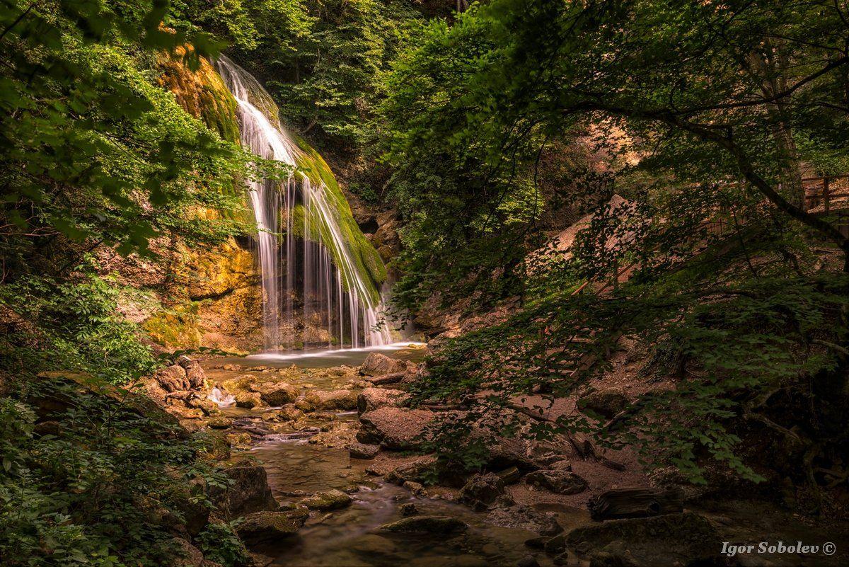 Джур-Джур, водопад, Крым, Jur-Jur, waterfall, Crimea, Соболев Игорь
