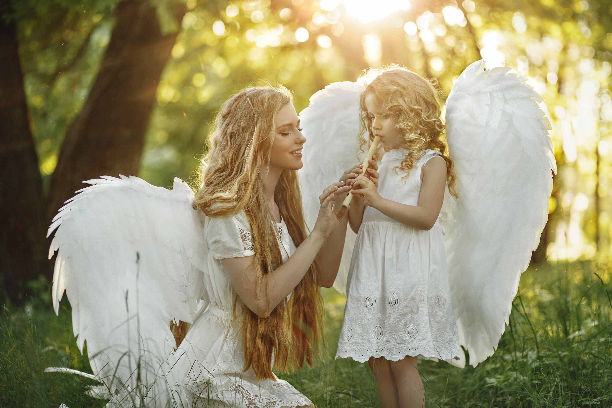 ангелы портрет лето, Валерия Касперова