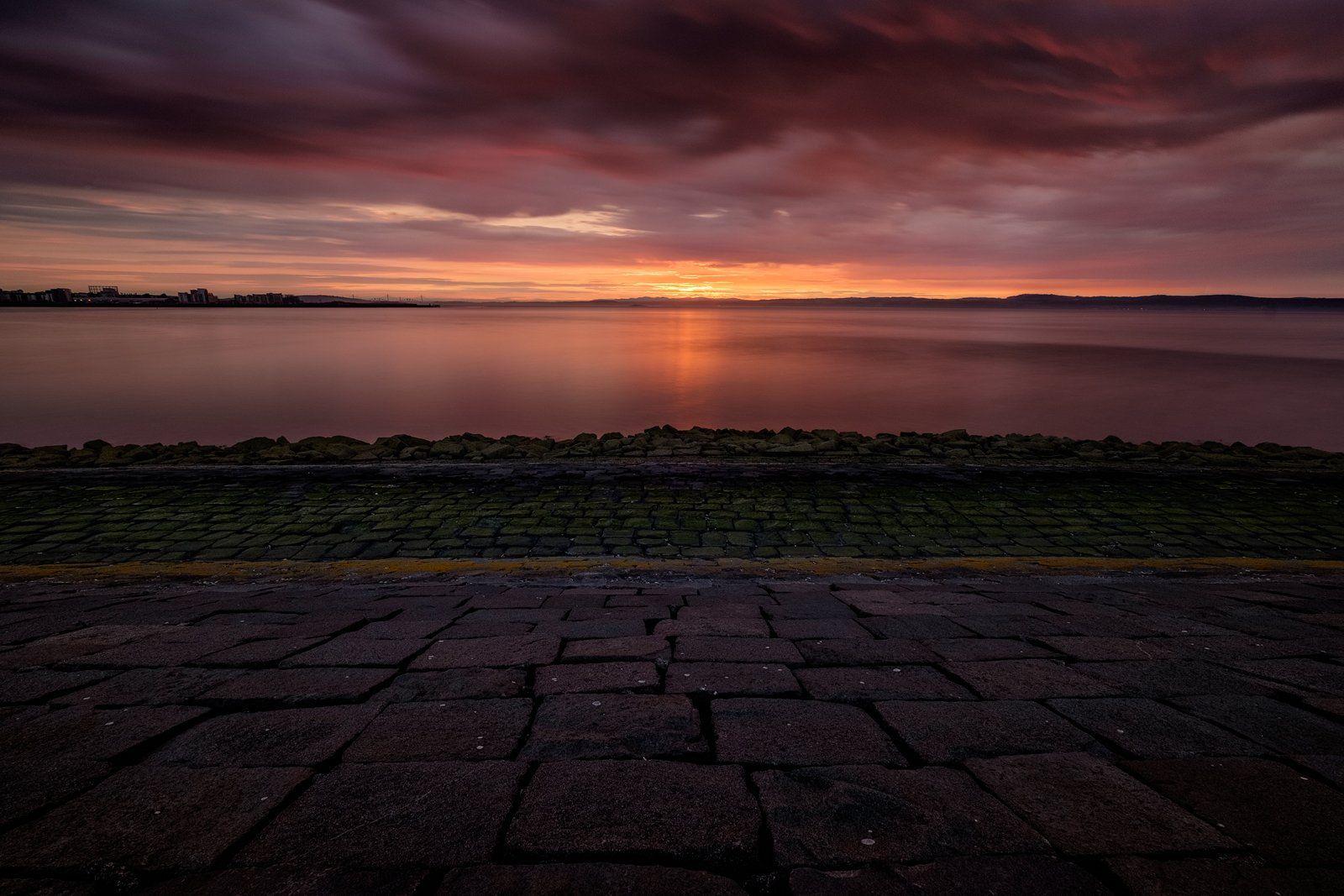 закат, Эдинбург, Шотландия, море, пейзаж, Александр Панфилов