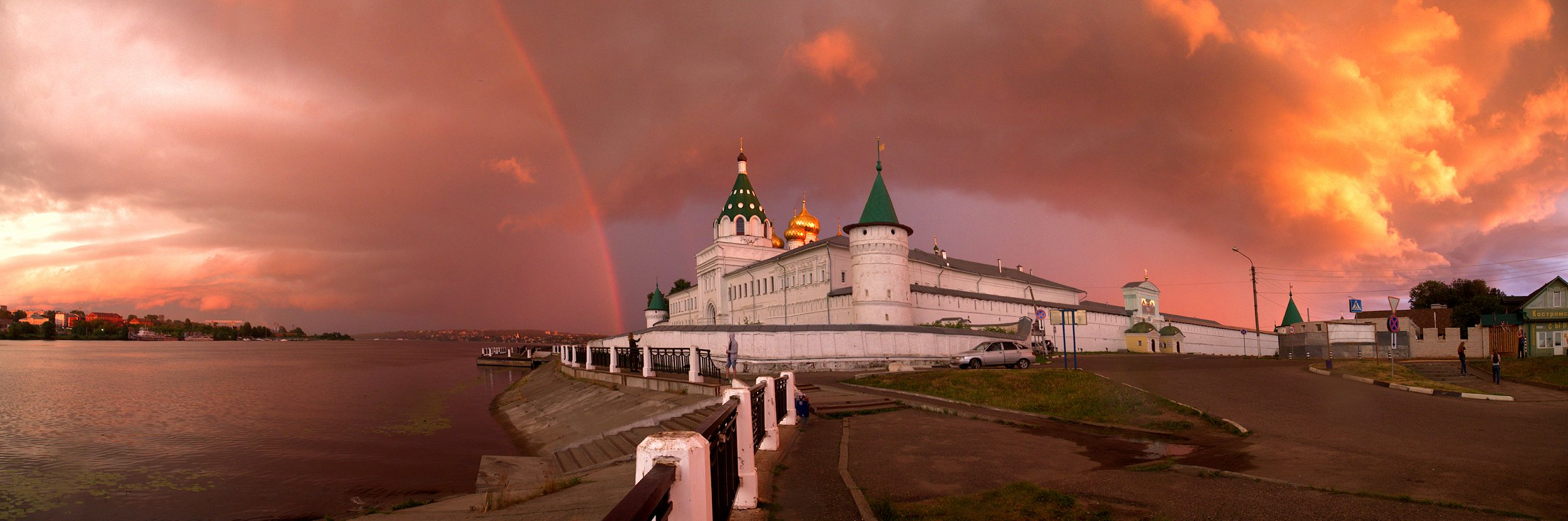 кострома панорама гроза монастырь, Марина Брыдня