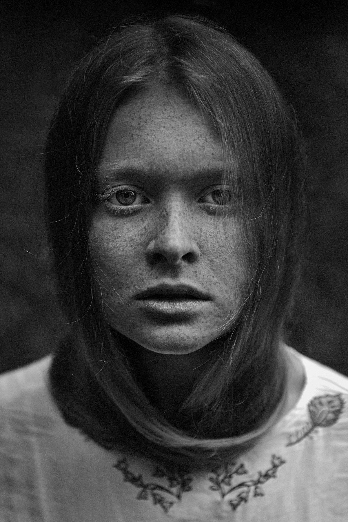 bnw, portrait, model,gerl, nikon,, Анна Дегтярёва