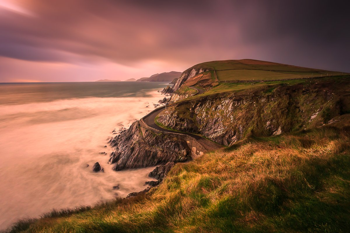Slea Head, Ireland, Dingle, Kerry, Galway, Longexposure, Sunrise, Sunset, Clouds, Ryszard Lomnicki