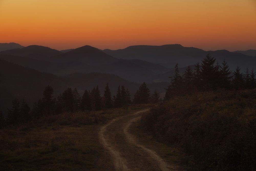 gorbeia, spain, sunset, Aleksandr Kljuchenkow