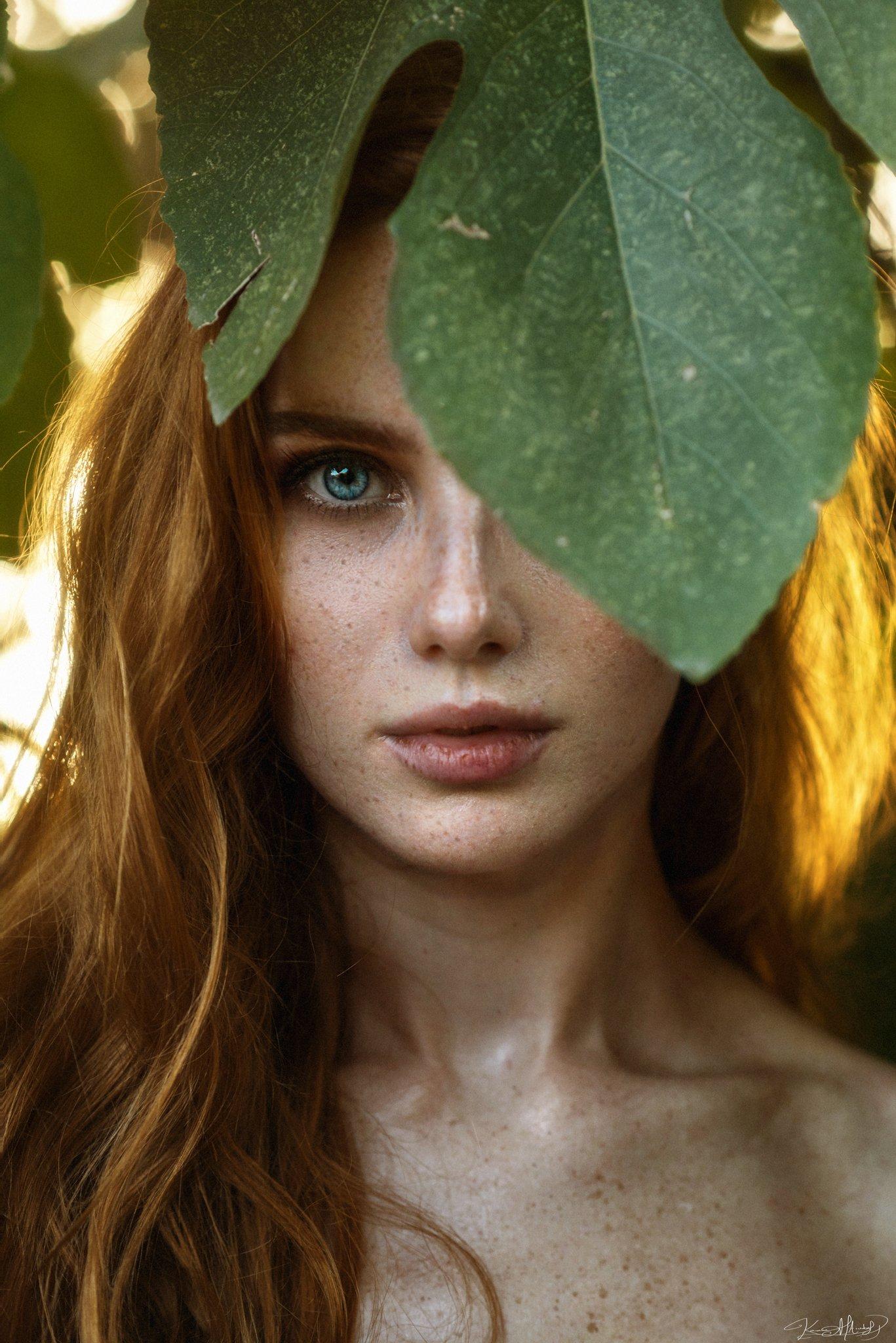 portrait, art, 85mm, eye, beauty, sunset, natural light, nikon, beautiful, freckles, ginger, colors, Каан Алтындал