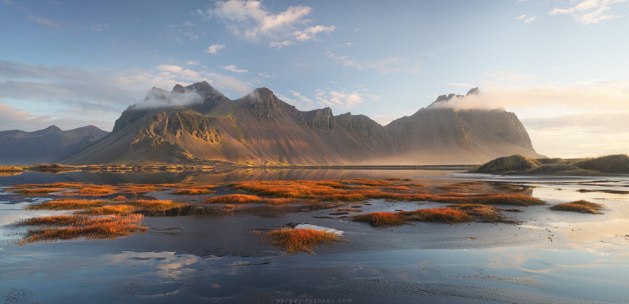 вестрахорн, исландия, пейзаж, природа, горы, панорама, iceland, stokksnes, vestrahorn, panorama, landscape, nature,, Сергей Рыжков