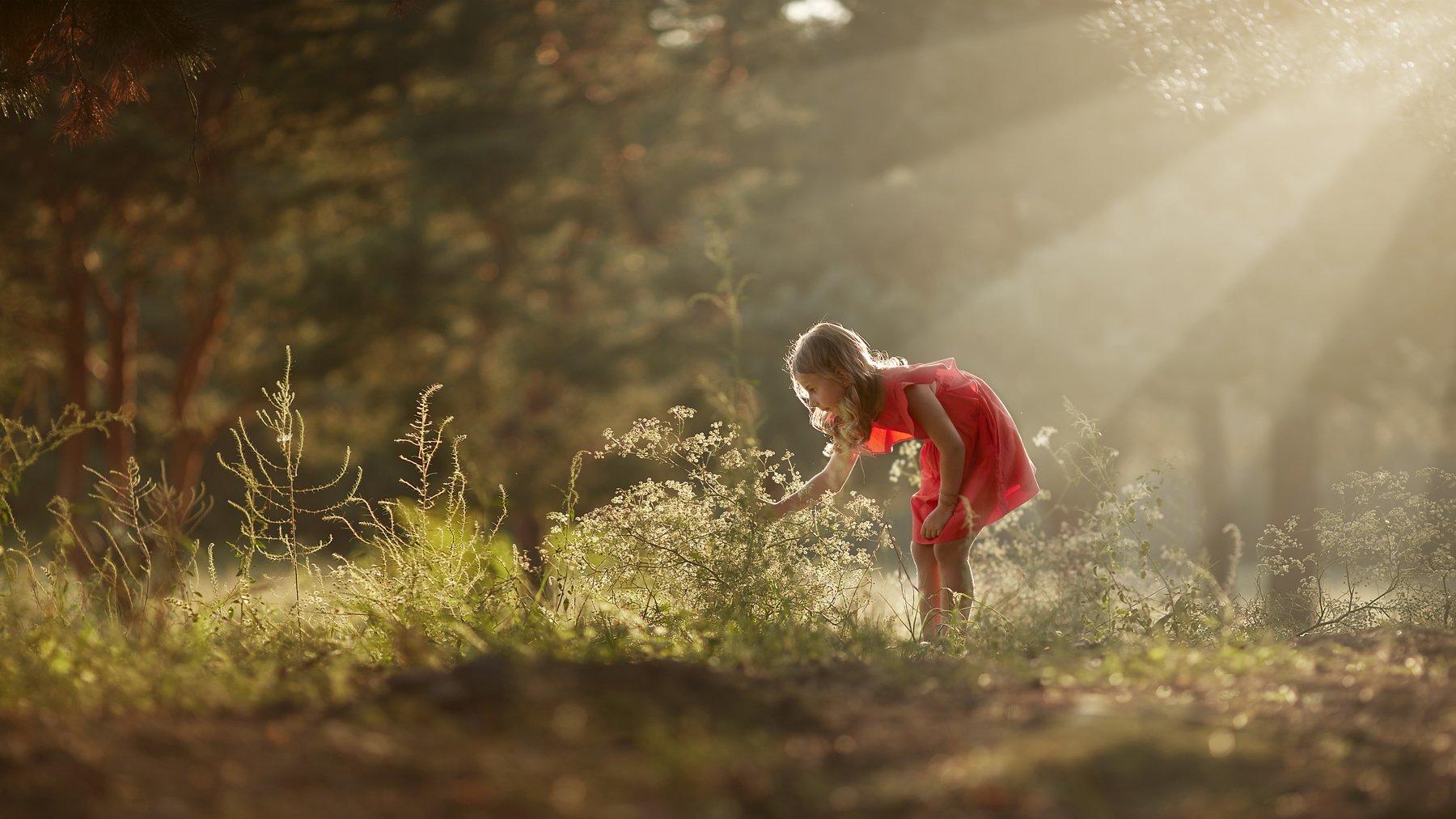 свет, ребенок, детский портрет, пейзаж, зеленый, ретушь, дети в кадре, Щепин Сергей