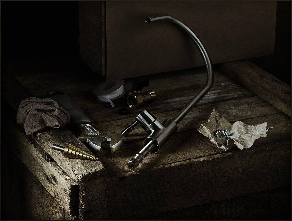 кран, ключ, инструмент, натюрморт, сверло, Андрей Угренинов